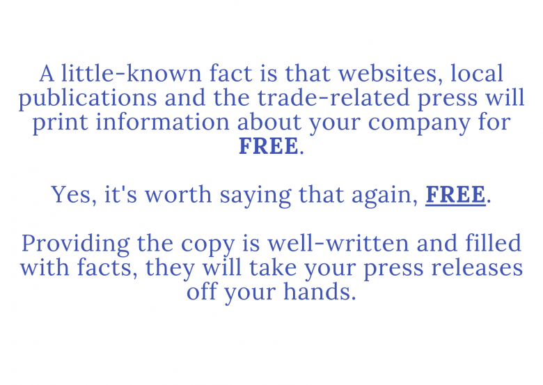A press release can be received free of charge from publications